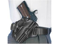 Opened Package  Belt Holster Right Hand 1911 Commander with Rail Leather Black