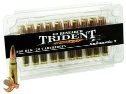 G2 Research RIP-OUT Trident Ammunition 300 AAC Blackout Subsonic 200 Grain Expanding Solid Copper...