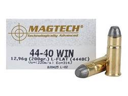 Magtech Cowboy Action Ammunition 44-40 WCF 200 Grain Lead Flat Nose Box of 50