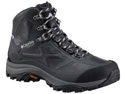 "Columbia Terrebonne Outdry Extreme Mid 6"" Waterproof Hiking Boots Leather Black/White Men's"