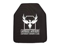 """AR500 Body Armor Stand Alone Ballistic Plate III Shooter's Cut 10"""" x 12"""" Polyethylene"""
