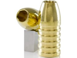 Lehigh Defense Controlled Fracturing Bullets 50 Caliber (500 Diameter) 385 Grain Solid Brass Box ...
