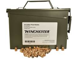 Winchester Bullets 45 Caliber (451 Diameter) 230 Grain Full Metal Jacket Ammo Can of 800 (Bulk Pa...