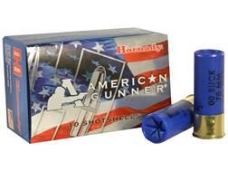 """Hornady American Gunner Ammunition 12 Gauge 2-3/4"""" Reduced Recoil 00 Buckshot Box of 10"""