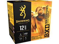 "Browning BXD Waterfowl Ammunition 12 Gauge 3"" 1-1/4 oz #4 Non-Toxic Steel Shot"
