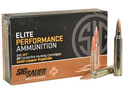 Sig Sauer Elite Performance Hunting HT Ammunition 300 Winchester Magnum 165 Grain Solid Copper Le...