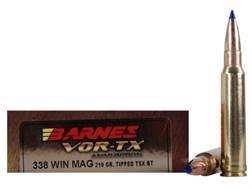 Barnes VOR-TX Ammunition 338 Winchester Magnum 210 Grain Tipped Triple-Shock X Bullet Boat Tail L...