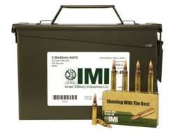 IMI Ammunition 5.56x45mm 55 Grain M193 Full Metal Jacket Boat Tail Ammo Can of 420 (14 Boxes of 30)