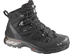 "Salomon Comet 3D GTX 6"" Waterproof Hiking Boots Synthetic Asphalt/Black/Pewter Men's 11 D"