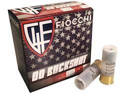 "Fiocchi Ammunition 12 Gauge 2-3/4"" 00 Buckshot 9 Pellets High Brass Case of 250 (10 Boxes of 25)"