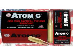 Atomic Tactical Cycling Subsonic Ammunition 308 Winchester 260 Grain Expanding Round Nose Soft Po...