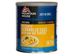 Mountain House 15 Serving Scrambled Eggs with Ham & Peppers Freeze Dried Food #10 Can