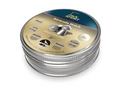H&N Baracuda Match Air Gun Pellets 22 Caliber 21.14 Grain 5.52mm Head-Size Domed Tin of 200