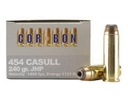 Cor-Bon Hunter Ammunition 454 Casull 240 Grain Jacketed Hollow Point Box of 20