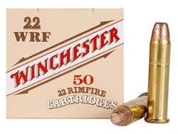 Winchester Wildcat Ammunition 22 Winchester Rimfire (WRF) 45 Grain Plated Lead Flat Nose Box of 50