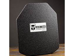 """AR500 Body Armor Stand Alone Ballistic Plate III+ Left Hand Shooter's Cut 10"""" x 12"""" Curved Steel ..."""