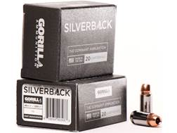 Gorilla Silverback Self Defense Ammunition 45 ACP FBI Penetration 230 Grain Hollow Point Copper-L...