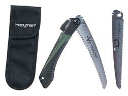 "Hooyman Megabite Hunters Combo Folding Saw 8"" High Carbon SK5 Blades Polymer Handle Black/Green"