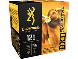 "Browning BXD Waterfowl Ammunition 12 Gauge 3-1/2"" 1-1/2 oz #2 Non-Toxic Steel Shot"