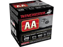 "Winchester AA Super Sport Sporting Clays Ammunition 28 Gauge 2-3/4"" 3/4 oz #7-1/2 Shot"