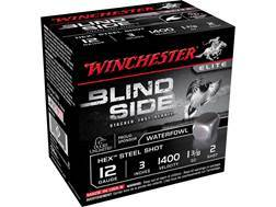 "Winchester Blind Side Ammunition 12 Gauge 3"" 1-3/8 oz #2 Non-Toxic Steel Shot"