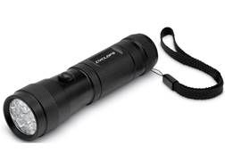 Cyclops 12 Multi Color Red, Green and White LED Flashlight with AAA Battery Aluminum Black Packag...