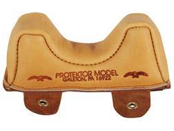 Protektor Owl Ear Rifle Front Shooting Rest Bag Medium Leather Tan Filled