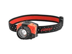 Coast FL85 Headlamp LED Focusable Variable Power with 3 AAA Batteries Aluminum Black