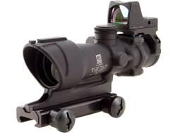 Trijicon ACOG Rifle Scope 4x 32mm Tritium Illuminated Amber Crosshair 223 Remington Reticle with ...