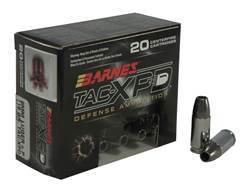 Barnes TAC-XPD Ammunition 9mm Luger +P 115 Grain TAC-XP Hollow Point Lead-Free Box of 20