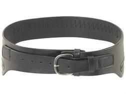 Triple K 111 Conquistador Western Double Holster Drop-Loop Cartridge Belt 45 Caliber Leather Blac...