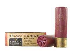 "Federal Premium Vital-Shok Ammunition 12 Gauge 3"" Buffered 000 Copper Plated Buckshot 10 Pellets ..."