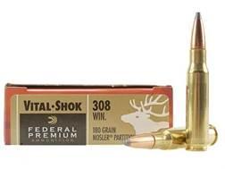Federal Premium Vital-Shok Ammunition 308 Winchester 180 Grain Nosler Partition Box of 20