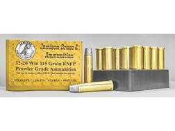 Jamison Ammunition 32-20 WCF 115 Grain Round Nose Flat Point Box of 20