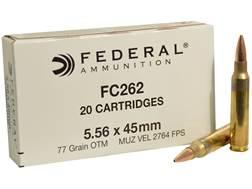 Federal Ammunition 5.56x45mm NATO 77 Grain Open Tip Match