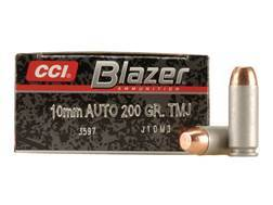 Blazer Ammunition 10mm Auto 200 Grain Total Metal Jacket