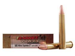 Barnes VOR-TX Safari Ammunition 500 Nitro Express 570 Grain Triple-Shock X Bullet Flat Base Box o...