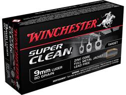 Winchester Super Clean NT Ammunition 9mm Luger 90 Grain Full Metal Jacket Lead-Free