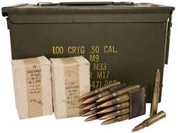 Military Surplus Ammunition 30-06 Springfield 150 Grain Full Metal Jacket Berdan Primed Loaded in 8-Round Garand Clips Ammo Can of 352 Rounds