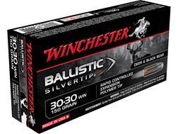 Winchester Ballistic Silvertip Ammunition 30-30 Winchester 150 Grain Rapid Controlled Expansion P...