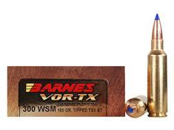 Barnes VOR-TX Ammunition 300 Winchester Short Magnum (WSM) 165 Grain Tipped Triple-Shock X Bullet...