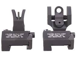 Troy Industries Medium Flip-Up Battle Sight Set M4-Style Front, Round Rear AR-15 Aluminum