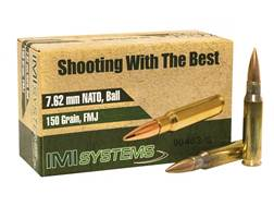 IMI Ammunition 7.62x51mm NATO 150 Grain Full Metal Jacket Box of 50