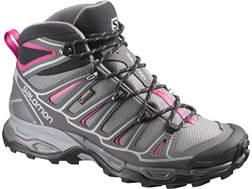 "Salomon X Ultra Mid 2 GTX 6"" Waterproof Hiking Boots Synthetic Detroit/Autobahn/Hot Pink Women's"