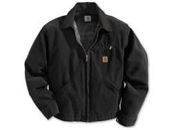 Carhartt Men's Sandstone Detroit Blanket Lined Jacket Cotton Black Medium Regular