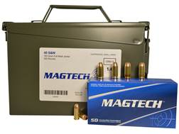 Magtech Sport Ammunition 40 S&W 180 Grain Full Metal Jacket Ammo Can of 300 (6 Boxes of 50)