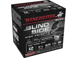 "Winchester Blind Side High Velocity Ammunition 12 Gauge 3-1/2"" 1-3/8 oz BB Non-Toxic Steel Shot"