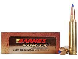 Barnes VOR-TX Ammunition 7mm Remington Magnum 140 Grain Tipped Triple-Shock X Bullet Boat Tail Le...