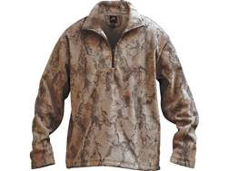 Natural Gear Men's Camp Fleece Layering 1/4 Zip Pullover Polyester Natural Camo