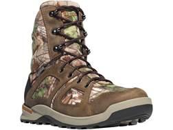 "Danner Steadfast 8"" Uninsulated Waterproof Hunting Boots Leather and Nylon Realtree Xtra Green Ca..."